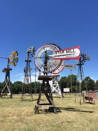 Shattuck, OK : Several of windmills. Each has information sign with it explaining use and dates etc.
