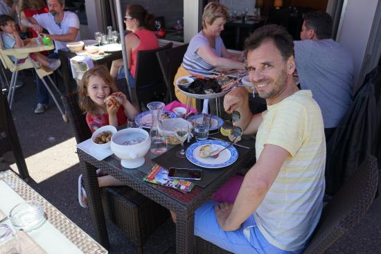 Le Bretagne: sur la terrasse