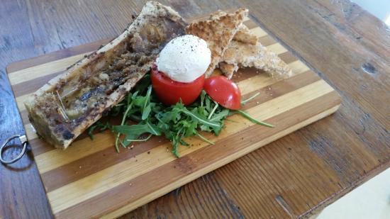 La Cuccina: Bone Marrow with Poached egg