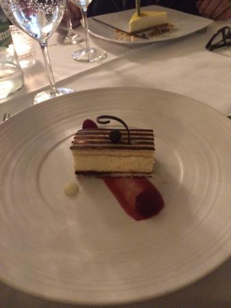 Homage at The Waldorf Hilton: Passion fruit tiramisu