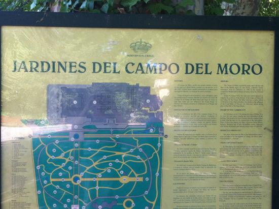 Mapa jardines xampo del moro fotograf a de jardines del for Jardines del moro