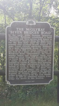 Holmen, Ουισκόνσιν: McGilvray Seven Bridges Road