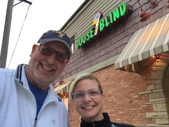 While at Green Lake, we ate at The Goose Blind Grill & Bar.  The zucchini coins and mozzarella s