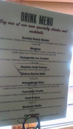 Crest Tavern: drink menu
