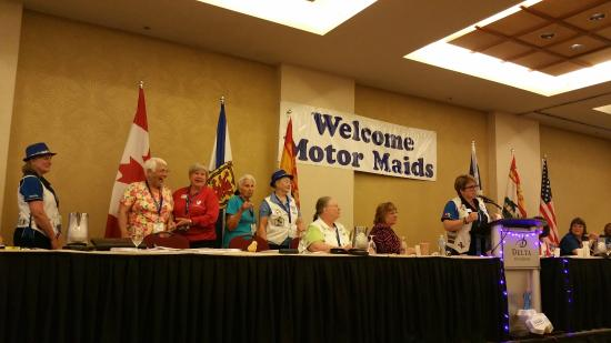 Delta Beausejour Hotel: The grand ballroom was perfect for hundreds of Motor Maids