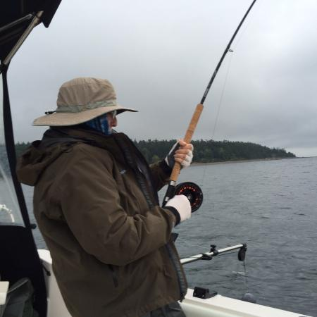 My wife fishing picture of coastal wilderness adventures for My fishing advisor