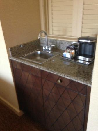 Hilton Stockton: coffee vanity