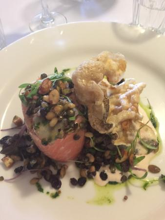 Ocean trout with grain salad