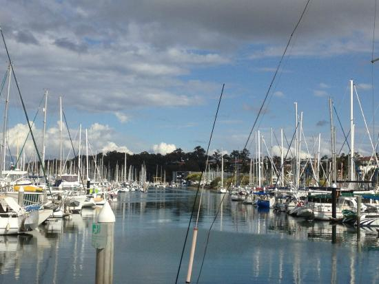 Spectacular views over the largest boat harbour facilitiy in the southern hemisphere