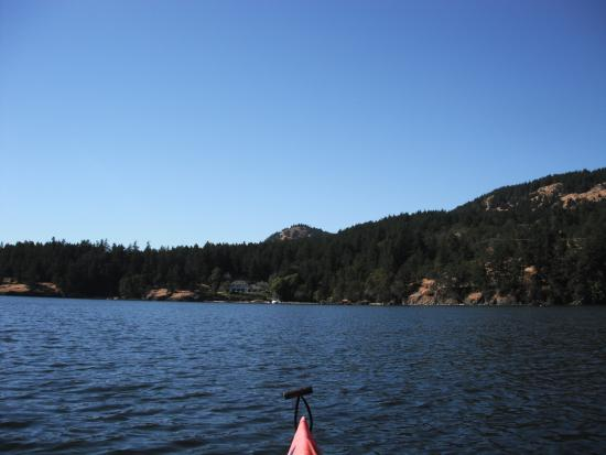 "Cabins on the Point: ""Kayaking with Turtleback Mountain in View"""
