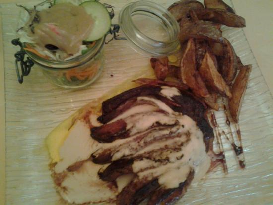 le magret de canard et sa sauce roquefort picture of auberge du bonheur crieu tripadvisor