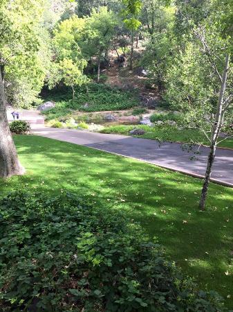 جونيباين ريزورت: View from balcony towards creek