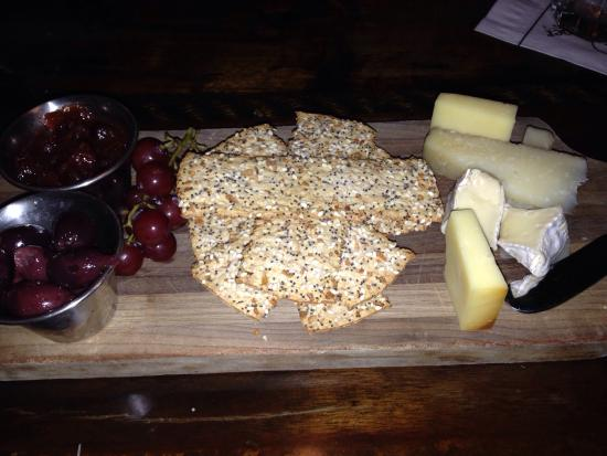 Artisan cheese plate at the windjammer restaurant
