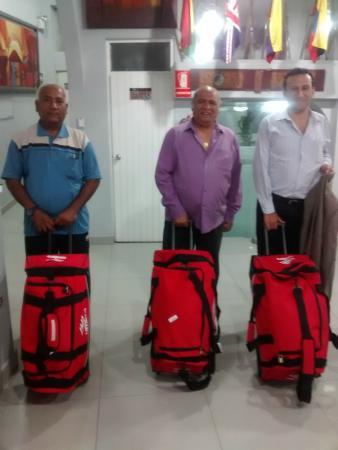 Hotel Central Chiclayo : En la recepción