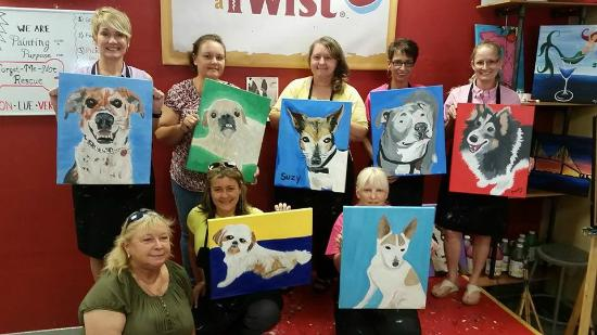 Paint your pet picture of painting with a twist for Painting with a twist locations near me