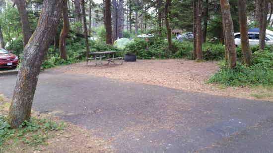 Beachside State Recreation Area: Very tiny campsite.