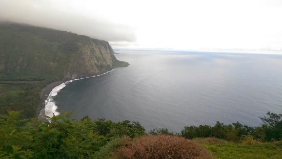 Waipi'o Valley: View from the top.