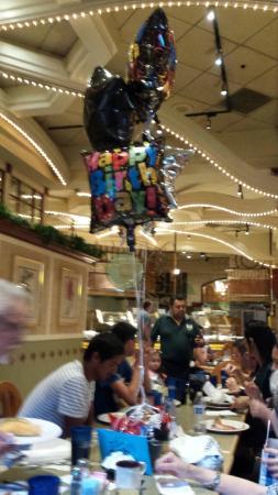 Garden Court Buffet Birthday Balloons