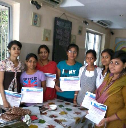 Hope Café: Bakery Trainees with their certificates