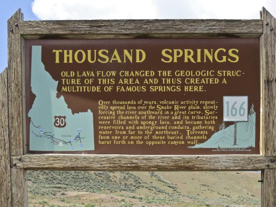 Bliss, ID: Thousand Springs Scenic Hwy, Thousand Springs turnout