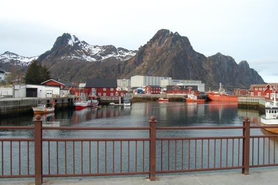 Vestfjord Hotell: Port avec ville