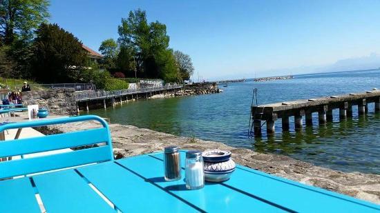 Restaurant de la plage: La vista desde las mesas