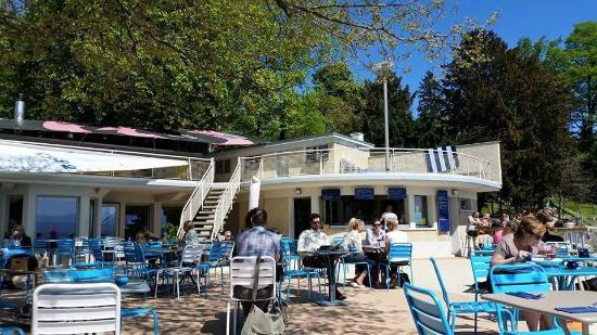 Restaurant de la plage: La zona de las mesas