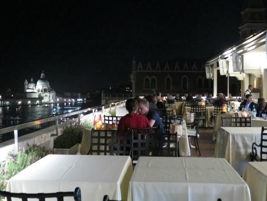 outside dining area and its view at night. - Picture of Restaurant ...