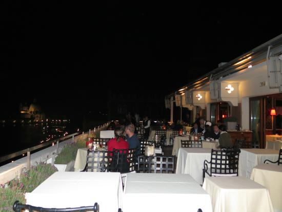 Night view from the terrace dining area. - Picture of Restaurant ...
