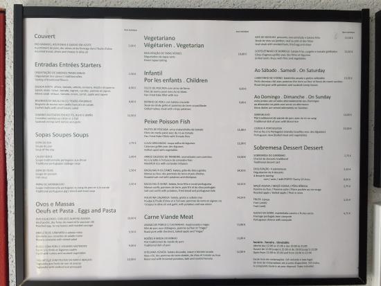 O Laranjeira: Carta del restaurante