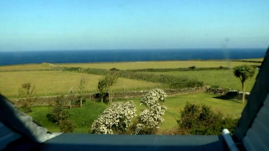 The Penallick B & B: View from a bedroom