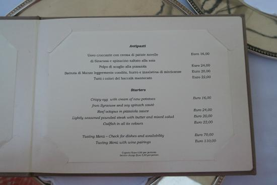 St. George Restaurant: Menu