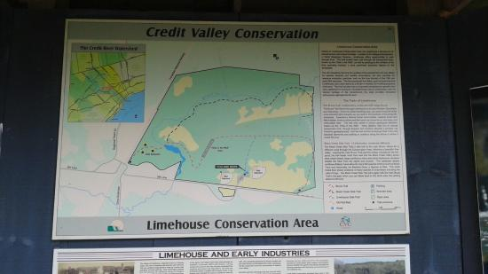 Conservation Area Map map   Picture of Limehouse Conservation Area, Halton Hills  Conservation Area Map