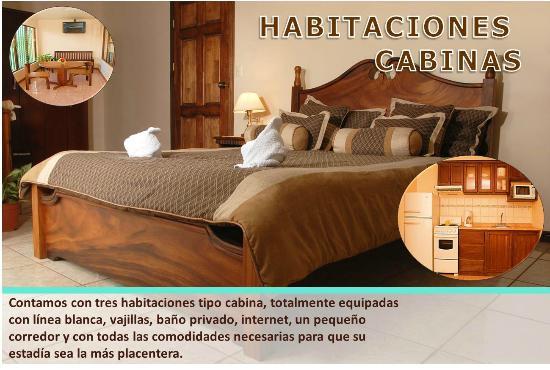 Hotel Las Brumas: Las Cabinas Cuenta con cama matrimonial en una habitación y 2 camas individuales en otra habitac