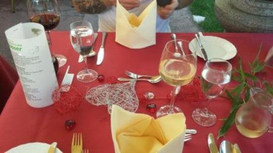 Gartenhotel Heusser: Candel-Light-Dinner