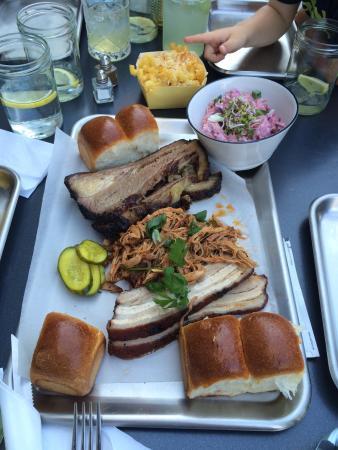 Brisket Southern Bbq Bar Brisket Pulled Pork Pork Belly Platter Enough