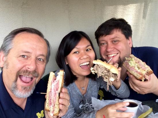 Clarklake, MI: Reuben, Hawaiian, and French Dip. All were outstanding.