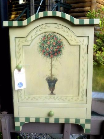 The Chalet Antiques Barn & Museum: HAND PAINTED FRENCH STYLE CABINET $45.00