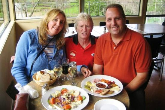 Puhoi Valley Cafe and Cheese Store: enjoying our meal