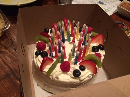 Tres Leche birthday cake! - Picture of Indulge, Lafayette - TripAdvisor