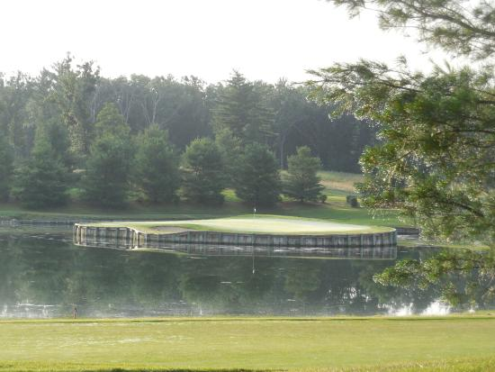 "Northern Bay Resort: One of the ""replica holes"" on the golf course"