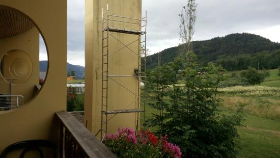 Les Cîmes du Leman : La vue depuis le balcon