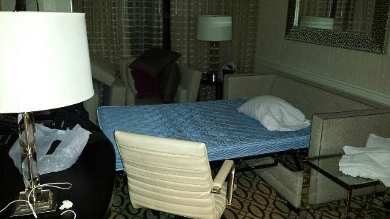 Peoria Marriott Pere Marquette : Nailed it. Compare this to Marriott's pics. Do not stay in 1123