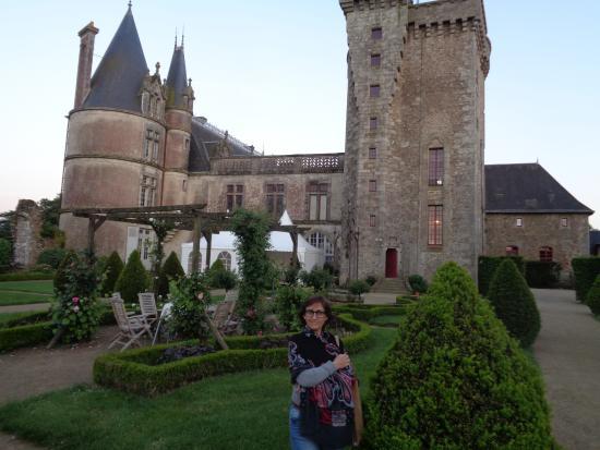 Chateau de la Flocelliere: El patio trasero de la propiedad.