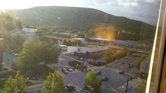 Holiday Inn Berkshires: Day time view of MassMOCA from 7th Floor of Holiday Inn