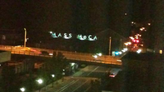 Holiday Inn Berkshires: Nighttime view of MassMOCA from 7th floor of Holiday Inn