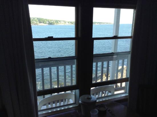 View from king room 2nd floor picture of bearskin neck for Bearskin neck motor lodge rockport ma