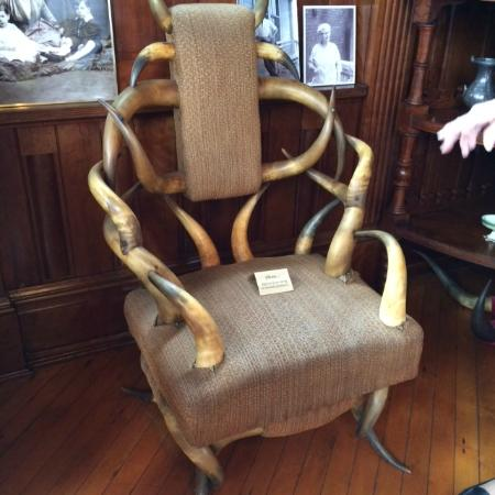 Howard Steamboat Museum & Mansion: custom made chair