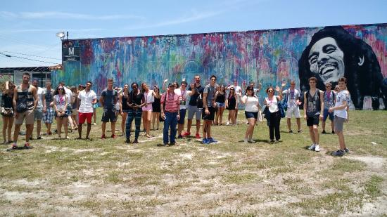Miami Tour Company: Doing Miami To The Max at the Bob Marley mural in Wynwood.