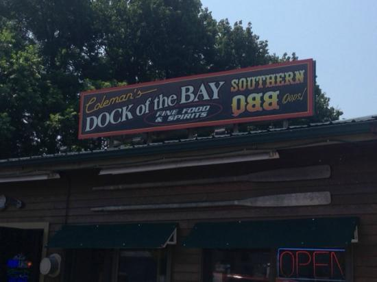 Coleman's Dock of the Bay: The sign